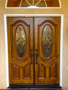 Painted double doors